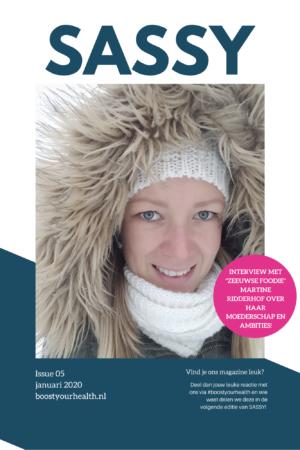 Boostyourhealth.nl Sassy magazine januari 2020