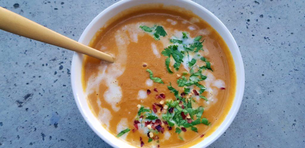 wortel gember soep met kokosmelk