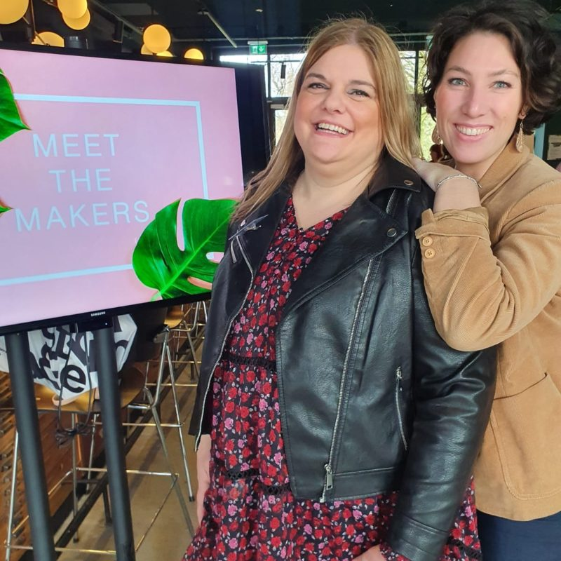 Melinda en Isabelle op meet the makers